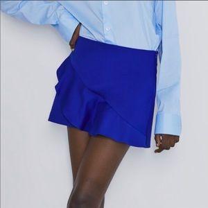 Zara Blue Ruffle Skort